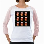 Halloween brown owls  Girly Raglans