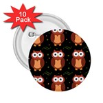 Halloween brown owls  2.25  Buttons (10 pack)