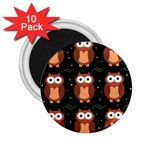 Halloween brown owls  2.25  Magnets (10 pack)