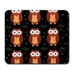 Halloween brown owls  Large Mousepads