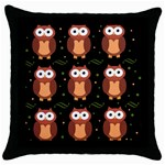 Halloween brown owls  Throw Pillow Case (Black)