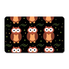 Halloween brown owls  Magnet (Rectangular)
