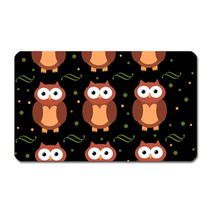 Halloween brown owls  Magnet (Rectangular)