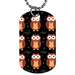 Halloween brown owls  Dog Tag (One Side)