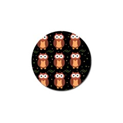 Halloween brown owls  Golf Ball Marker (4 pack)