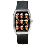 Halloween brown owls  Barrel Style Metal Watch