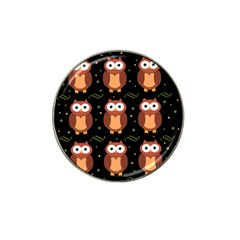 Halloween brown owls  Hat Clip Ball Marker (4 pack)