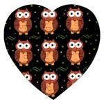 Halloween brown owls  Jigsaw Puzzle (Heart)