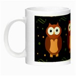 Halloween brown owls  Night Luminous Mugs