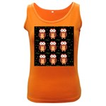 Halloween brown owls  Women s Dark Tank Top Front