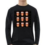 Halloween brown owls  Long Sleeve Dark T-Shirts