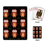 Halloween brown owls  Playing Card Back