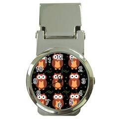 Halloween brown owls  Money Clip Watches