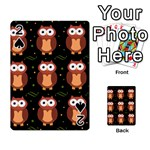 Halloween brown owls  Playing Cards 54 Designs