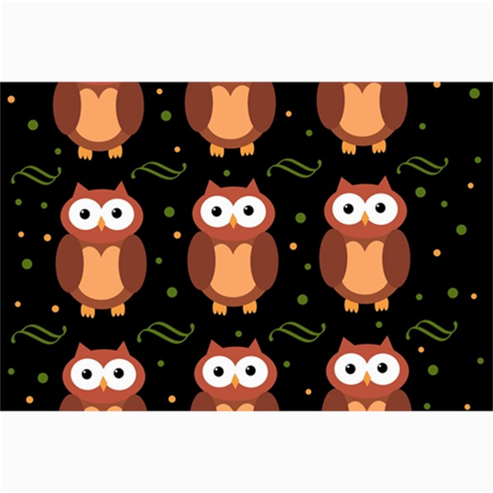 Halloween brown owls  Collage Prints