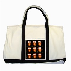 Halloween brown owls  Two Tone Tote Bag