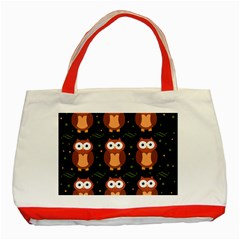 Halloween brown owls  Classic Tote Bag (Red)
