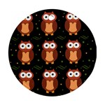 Halloween brown owls  Round Ornament (Two Sides)