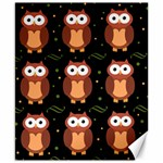 Halloween brown owls  Canvas 8  x 10