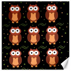 Halloween brown owls  Canvas 12  x 12