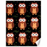 Halloween brown owls  Canvas 12  x 16