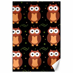 Halloween brown owls  Canvas 12  x 18