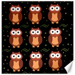 Halloween brown owls  Canvas 20  x 20