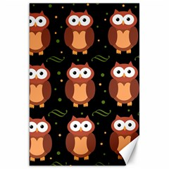 Halloween brown owls  Canvas 20  x 30