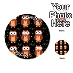 Halloween brown owls  Playing Cards 54 (Round)  Front - Joker1