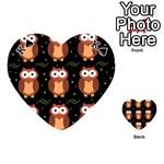 Halloween brown owls  Playing Cards 54 (Heart)  Front - SpadeK