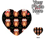 Halloween brown owls  Playing Cards 54 (Heart)  Front - Diamond9