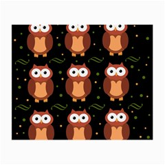 Halloween brown owls  Small Glasses Cloth (2-Side)