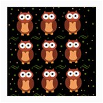 Halloween brown owls  Medium Glasses Cloth (2-Side)