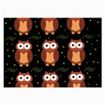 Halloween brown owls  Large Glasses Cloth