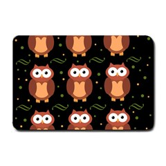 Halloween brown owls  Small Doormat
