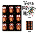 Halloween brown owls  Multi-purpose Cards (Rectangle)  Back 36