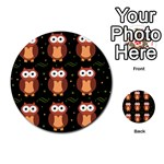 Halloween brown owls  Multi-purpose Cards (Round)  Back 3