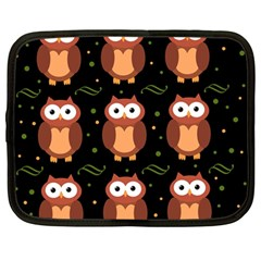 Halloween brown owls  Netbook Case (Large)