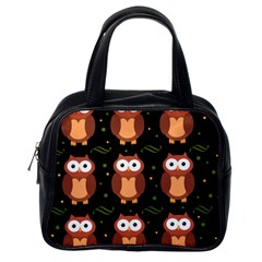 Halloween brown owls  Classic Handbags (One Side)