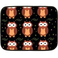 Halloween brown owls  Fleece Blanket (Mini)