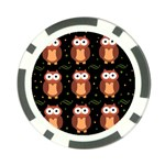 Halloween brown owls  Poker Chip Card Guards (10 pack)  Back