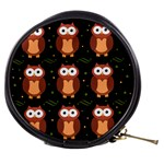 Halloween brown owls  Mini Makeup Bags Front