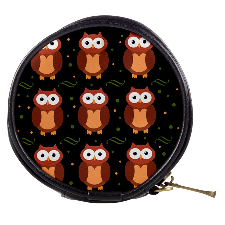 Halloween brown owls  Mini Makeup Bags