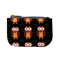Halloween Brown Owls  Mini Coin Purses