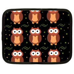 Halloween brown owls  Netbook Case (XL)
