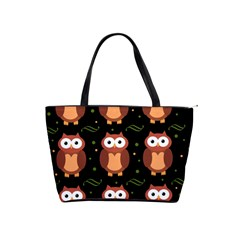 Halloween brown owls  Shoulder Handbags