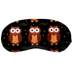 Halloween brown owls  Sleeping Masks