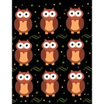 Halloween brown owls  Large Memo Pads 4.125 x5.5  Memopad
