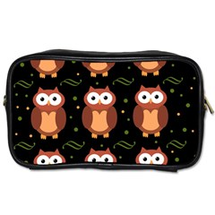 Halloween brown owls  Toiletries Bags 2-Side