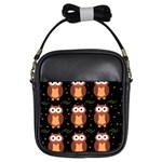 Halloween brown owls  Girls Sling Bags